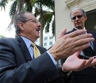 El secretario de Hacienda, Juan Zaragoza (i), destacó que el B2B le hubiera dejado -solo en junio- $11 millones.