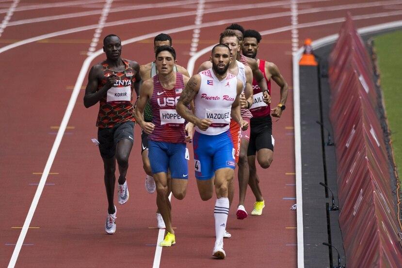 Wesley Vázquez llega a Croacia con tiempo de 1:47.57.