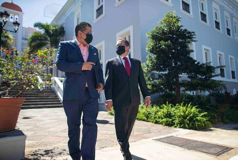 """Los presidentes de la Cámara y el Senado, Rafael """"Tatito"""" Hernández y José Luis Dalmau."""