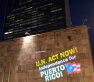 Proyectan imágenes a favor de la independencia de la isla en el edificio de la ONU en Nueva York