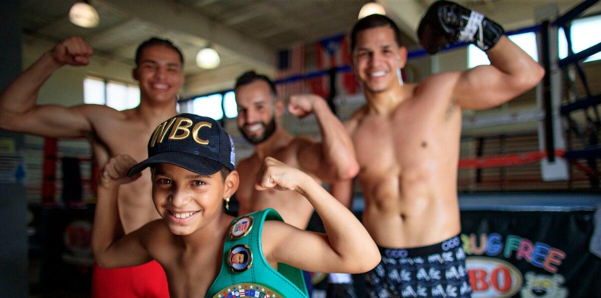 En fotos: la reunión de Edgar Berlanga, Pitufo Díaz y Xander Zayas