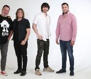 Manolo Mongil y Juan José Hernández junto a Kedward Avilés y Gabriel Montañez, de Caribbean Tenors, son algunos de los talentos que participaron en la grabación.