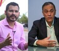 Los comisionados electorales Olvin Valentín, del Movimiento Victoria Ciudadana, y Nelson Rosario, del Proyecto Dignidad.