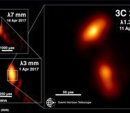 Captan la imagen de un chorro de materia emergiendo de un agujero negro