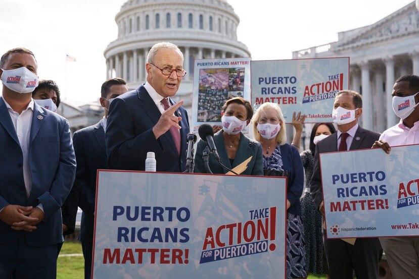 El líder de la mayoría, el senador Chuck Schumer.