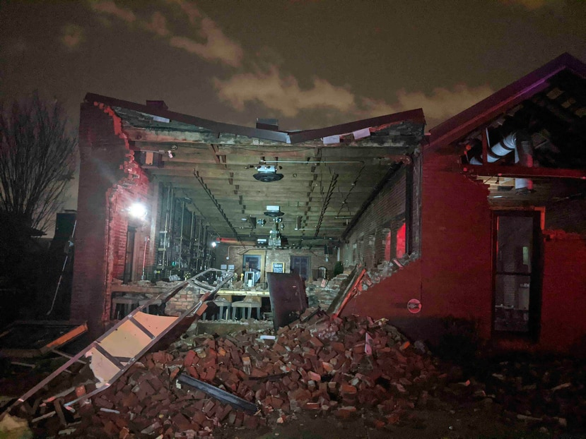 Los efectos de los tornados que arrasaron con Nashville, Tennessee el 3 de marzo del 2020. (Alex Carlson/AP)