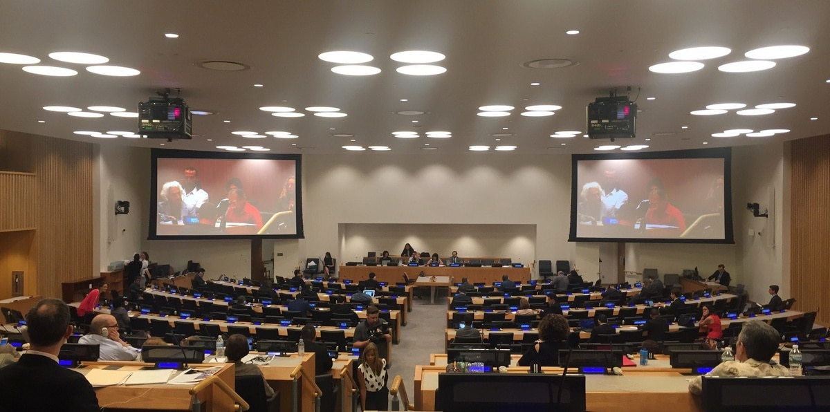 Imagen de archivo de una reunión del Comité de Descolonización de la ONU sobre el caso político de Puerto Rico.