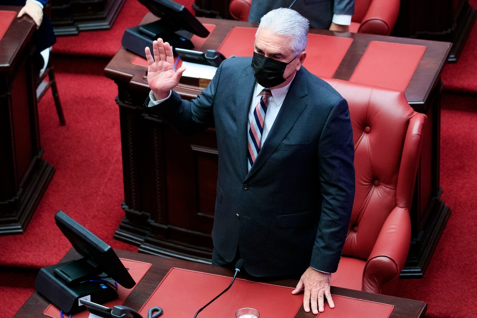 En la foto, Thomas Rivera Schatz, quien presidió el Senado durante las admnistraciones de Ricardo Rosselló Nevares y Wanda Vázquez Garced.