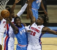 Los Pistons y los Rockets tendrán el primer y segundo turno, respetivamente, de la primera ronda del draft 2021de la NBA. En la foto, Victor Oladipo, quien fue cambiado al Heat de Miami la temporada pasada.