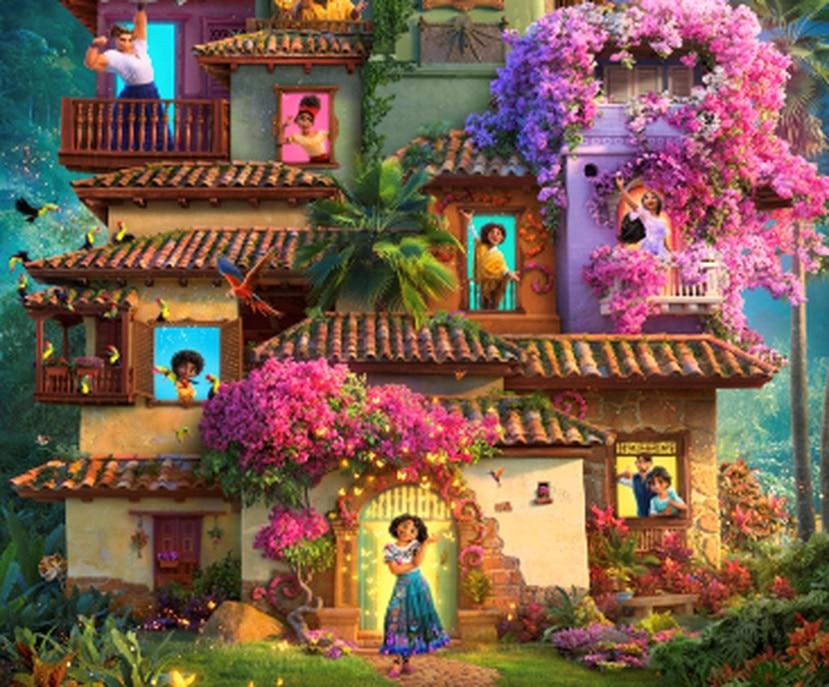 La película cuenta la historia de una familia de los Madrigales, quienes viven escondidos en las montañas de Colombia en una casa mágica, en un lugar maravilloso llamado Encanto.