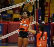 En Puerto Rico Jennifer Nogueras juega para las Criollas de Caguas, con quienes conquistó el último campeonato en la LVSF en 2019.