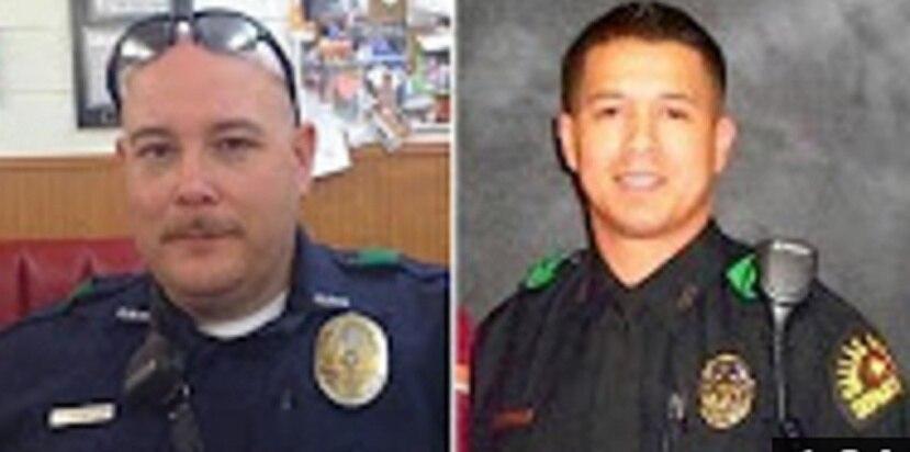 Los agentes Brent Thompson y Patrick Zamarripa fallecieron en el ataque junto a otros tres policías en Dallas. (Imagen de YouTube)