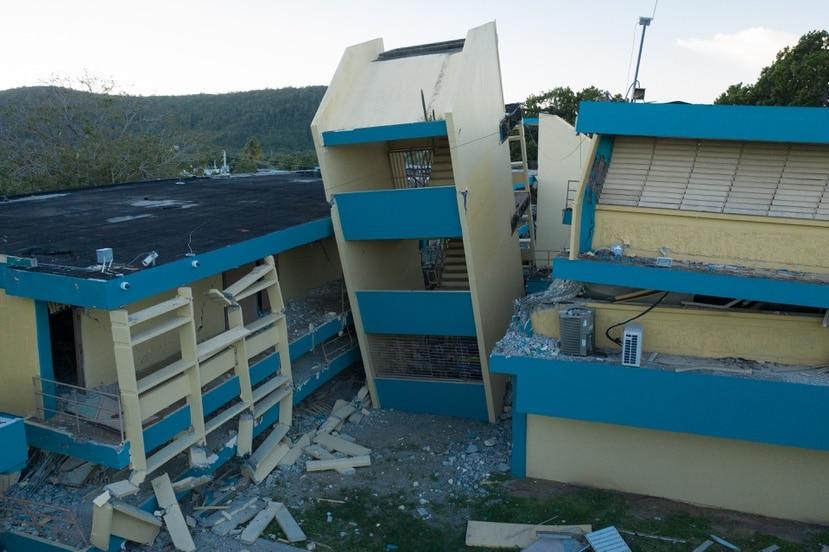 La escuela Agripina Seda, en Guánica, sufrió un colapso parcial de varias de sus estructuras luego del terremoto de magnitud 6.4 que se registró el 7 de enero de 2020.