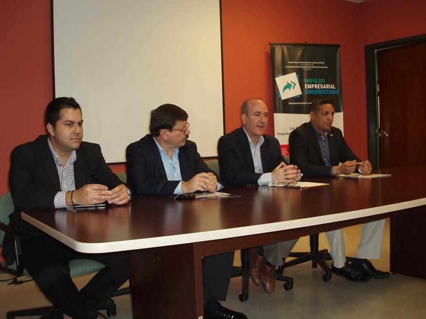 Paul Curran, Jose´ Romaguera, Nelson Perea y Alejandro Gonza´lez durante la conferencia de prensa. (Suministrada)