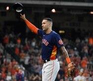 Carlos Correa podría iniciar el jueves su última participación en series de postemporada en el uniforme de los Astros de Houston.