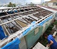 A house affected by Hurricane María en Barrio Obrero.