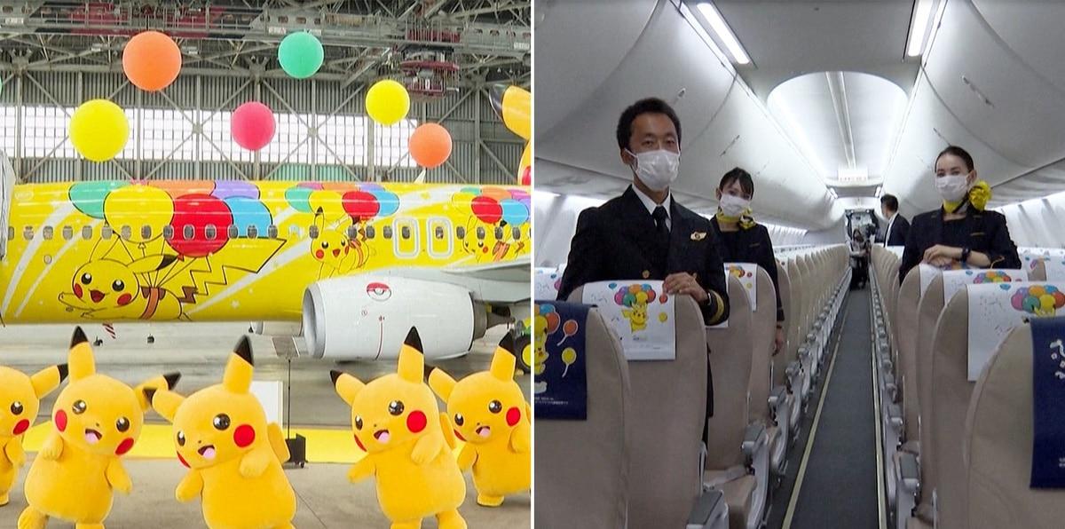 Mira el Pikachu Jet: nuevo avión de Pokémon