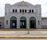 La plaza de Mercado de Salinas.