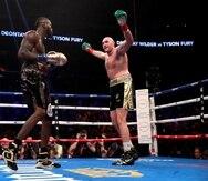 Tyson Fury, en la foto, enfrentará por segunda vez a Deontay Wilder, luego del empate en el primer combate efectuado en 2018 en Los Ángeles. (Suministrada/Top Rank)