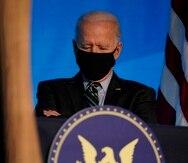 El presidente electo Joe Biden en un evento en Wilmington, Delaware.