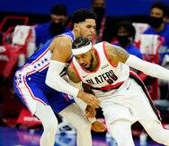 Carmelo Anthony saca la cara por los Trail Blazers para ganarle a los Sixers