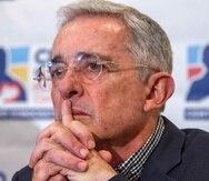El expresidente colombiano Álvaro Uribe. (EFE)