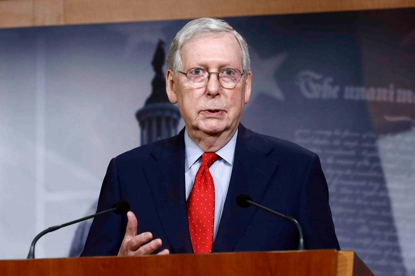 Mitch McConnell, líder de la mayoría republicana del Senado. (AP/Patrick Semansky)