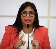 """La vicepresidenta Delcy Rodríguez presentó una """"fuerte protesta"""" ante los representantes en Venezuela de la Oficina del Alto Comisionado de las Naciones Unidas para los Derechos Humanos, con quienes sostuvieron una reunión """"muy importante""""."""