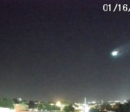 Un bólido o meteoro brillante fue captado en vídeo por una cámara de seguridad en Puerto Rico.