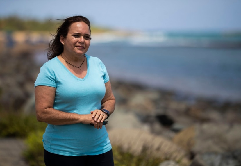 Maritza Barreto, oceanógrafa geológica y directora de la Red de Playas. Foto: Teresa Canino Rivera.