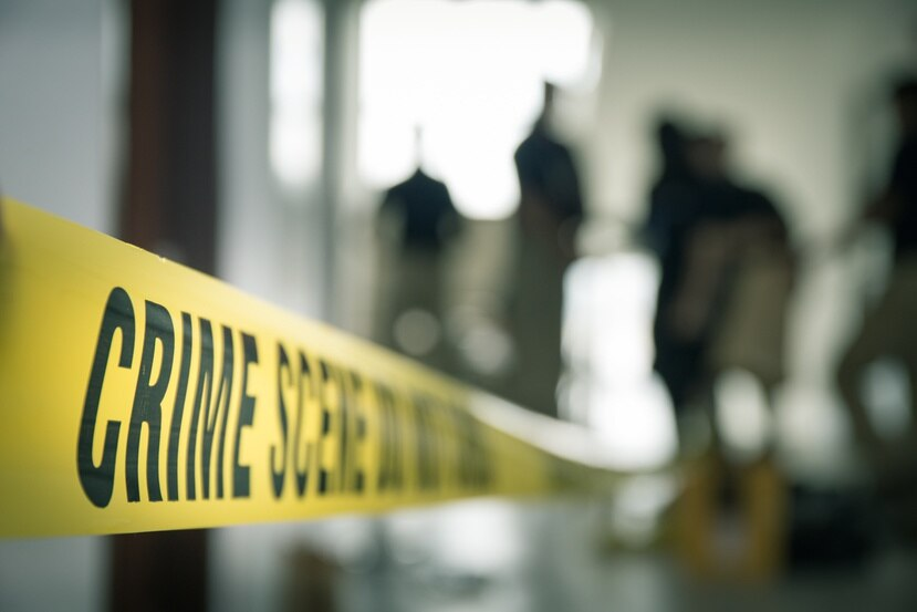 Una escena de crimen.